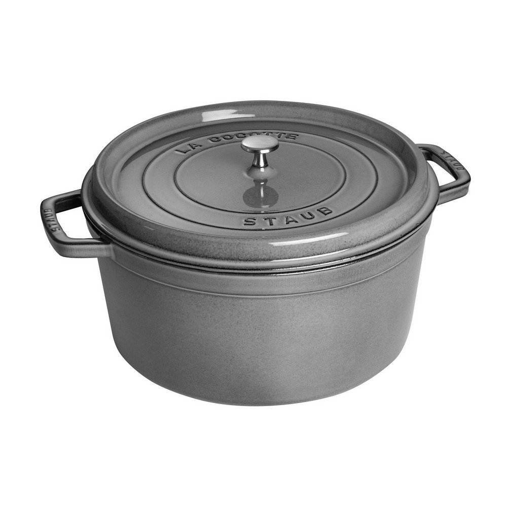 Staub 1103418 Round Cocotte Oven, 13.25 quart, Graphite Grey