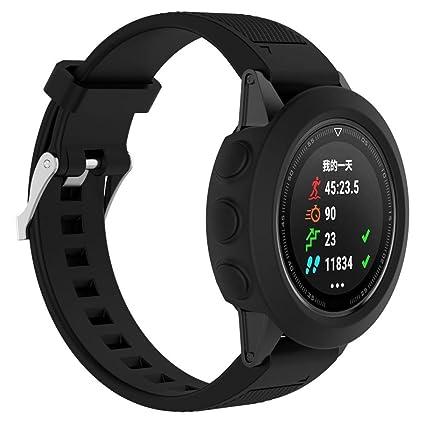 Para Garmin Fenix 5 GPS reloj elegante carcasa funda de repuesto, Y56 concisa carcasa Silicagel