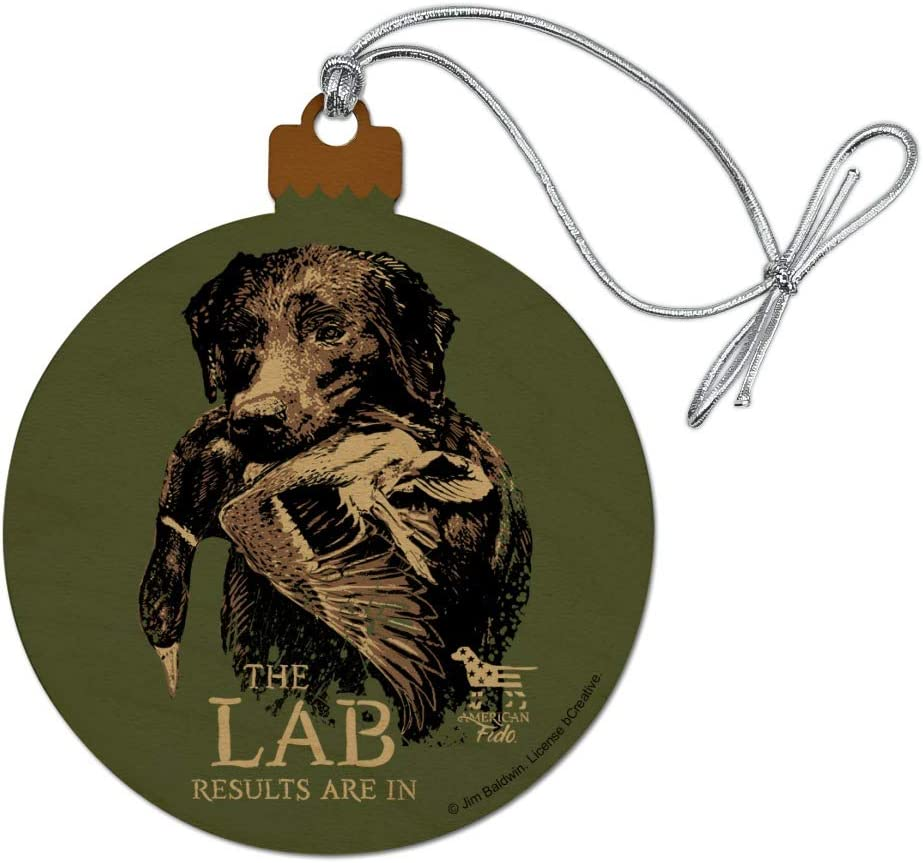 GRAPHICS & MORE The Lab Results are in Labrador Duck Hunting Wood Christmas Tree Holiday Ornament
