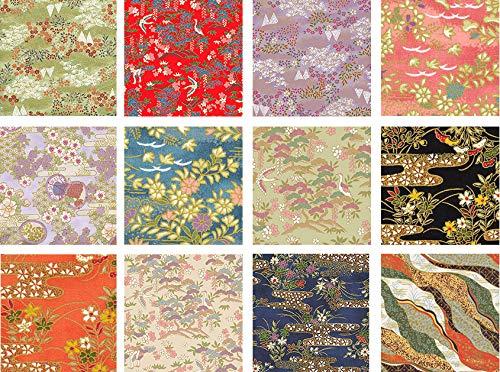 12 Chiyogami Asian Japanese Fat Quarter Quilt Fabric Bundle #4: 3 - Quilt Fabric Asian