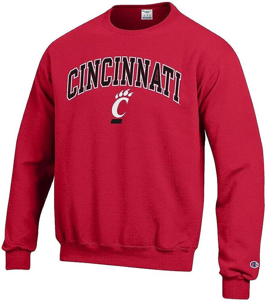 Elite Fan Shop NCAA Mens Team Color Crewneck Sweatshirt Arch