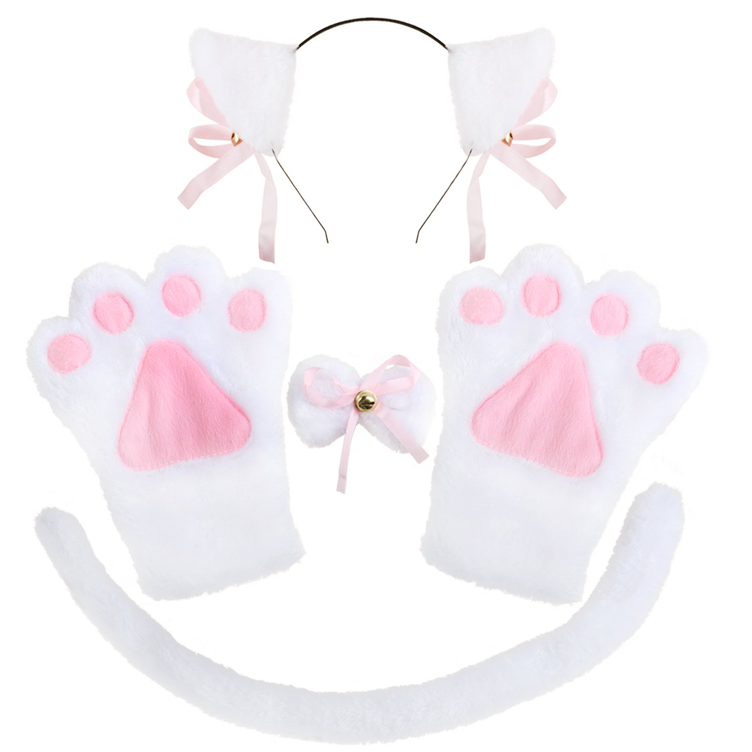 Hip Mall Kitty Cat Cosplay Anime Fancy Costume Lolita Paw Ear Bow Tie Set T1000013