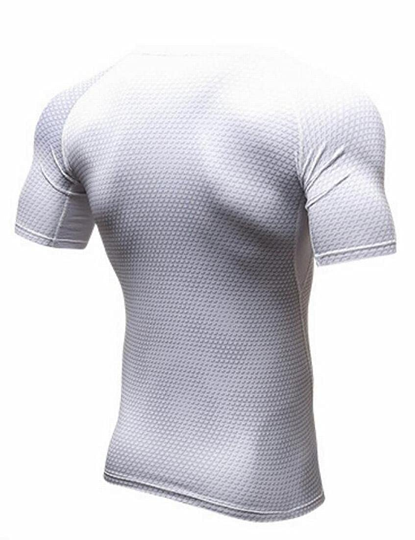 Domple Mens Compression Cool Dry Performance Training Workout Base Layer Tops