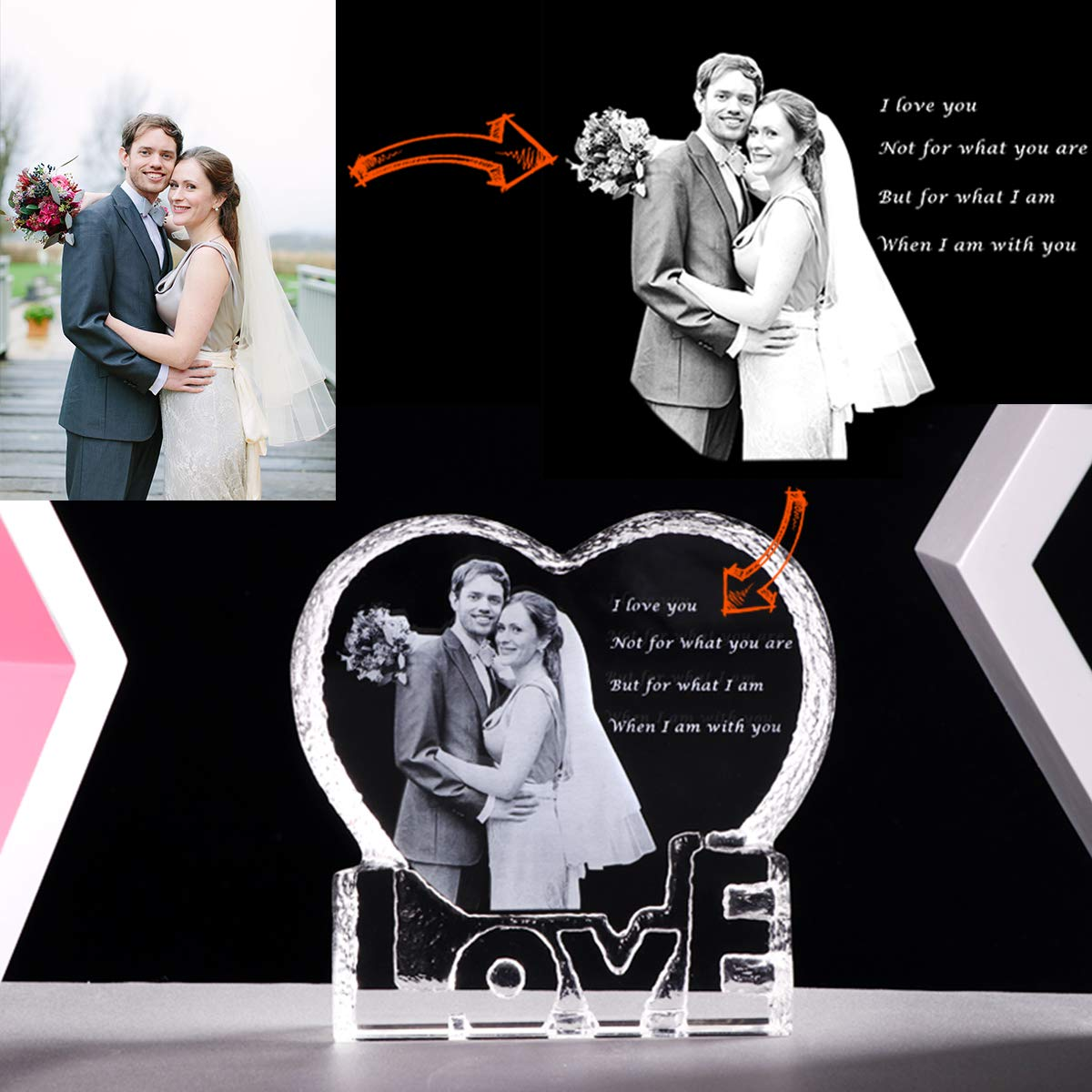 Perfect Wedding Anniversary Gift For Husband: YWHL Custom Photo Wedding Anniversary Sculpture