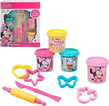 Disney - Kit plastilina Minnie 4 botes de 114 g con moldes y ...