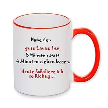 Klebemonster24 Tasse Mit Spruch Hab Den Gute Laune Tee 8 Minuten