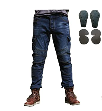 9c9d670edcf Amazon.com: Toach Denim Jeans for Men Motorcycle Riding Pants with CE  Detachable Protective Pad Black/Army Green/Blue/Camouflage: Clothing