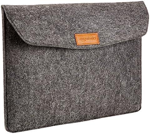 AmazonBasics 15.4-Inch Felt Laptop Sleeve - Charcoal - 15 Inch Laptop
