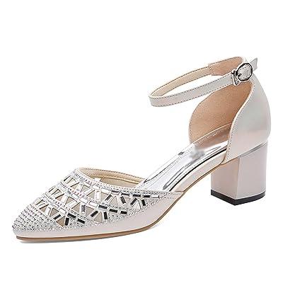 3a973a30fa636f Chaussures femme HWF Sandales Femelle D'été Mode Femmes Chaussures Pointu Talons  Hauts (Couleur : Or, Taille : 39)
