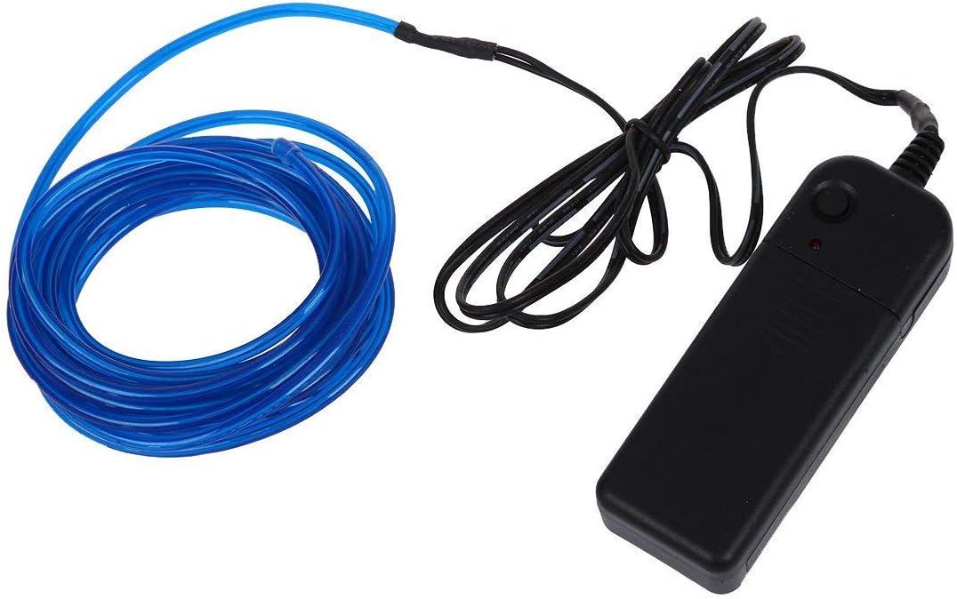Newin Star 3.2mm alambre 3.2MM luminosos de neón del efecto estroboscópico alambre electro luminiscentes alambre luminoso con la caja de batería 3M / 9.8 pies-Blue Iluminación