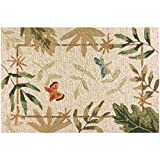 Homefires Butterflies and Dragonflies 22-Inch by 34-Inch Indoor Outdoor Hand Hooked Area Rug Review