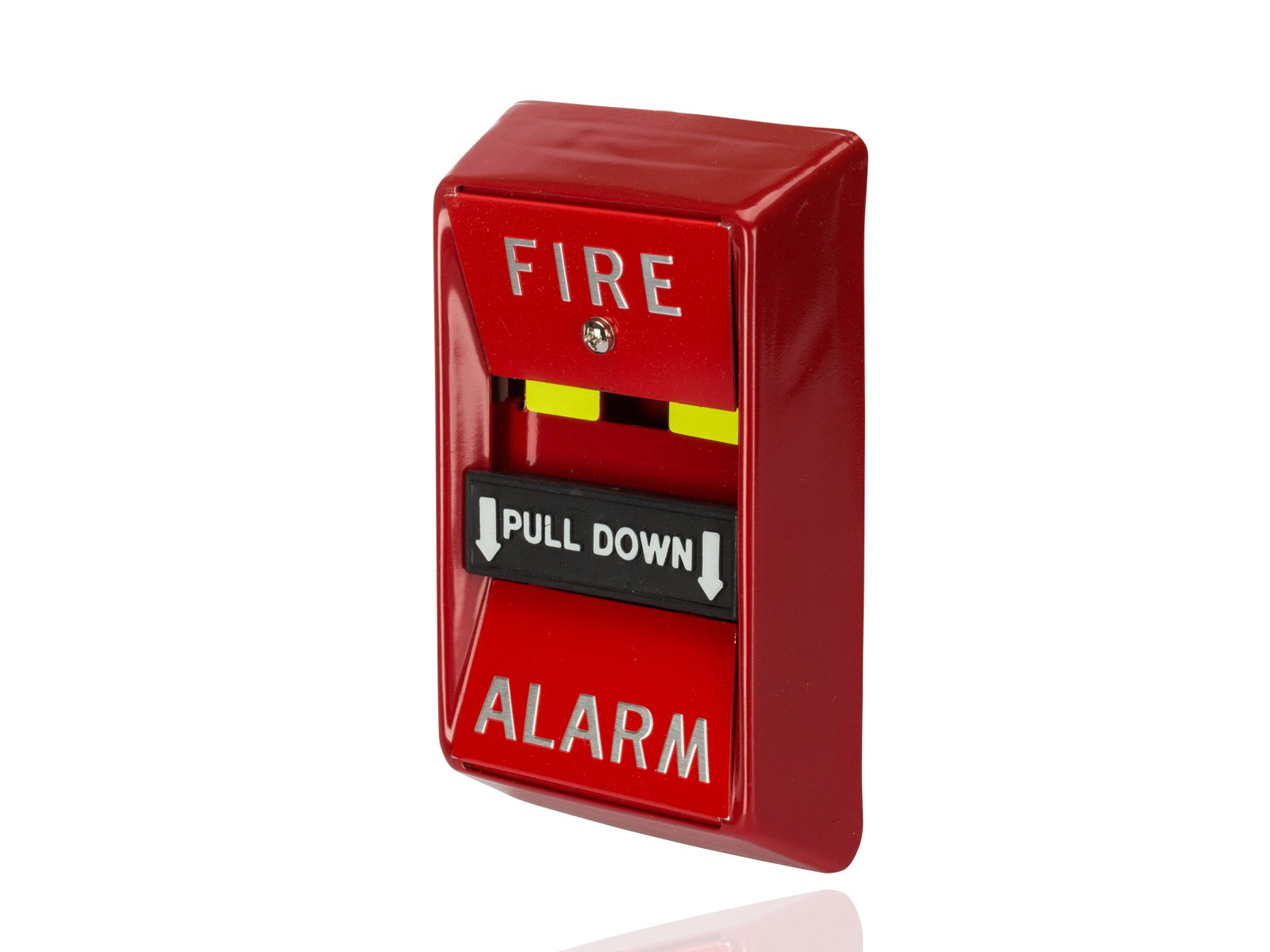 Manual Fire Alarm Pull-Down Station, SPST/NO Switch, 30VAC/DC, 1 Amp Current