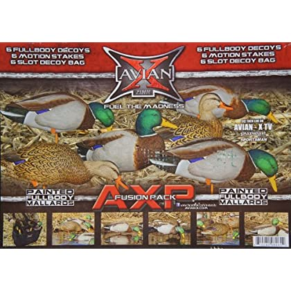Image of Avian-X Full Body Decoys Mallard 6 PK. Brown Decoys