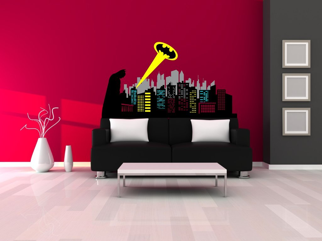 Amazon chic walls removable gotham city skyline batman amazon chic walls removable gotham city skyline batman silhouette logo ray of light wall art decor decal vinyl sticker mural kids room nursery 60 x amipublicfo Gallery