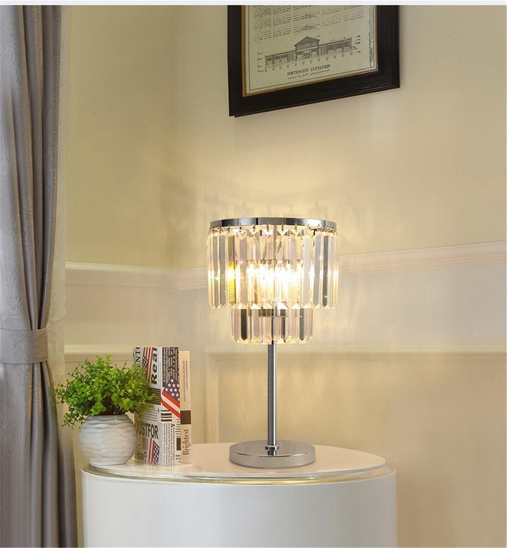 HONGLI Lusso Moderno Semplice Caldo K9 colore di cristallo E14 Soggiorno Studio Camera da letto lampada comodino 28  48