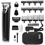 Wahl Stainless Steel Lithium Ion 2.0+ Black Beard Trimmer for Men - Electric Shaver, Nose Ear Trimmer, Rechargeable All in On