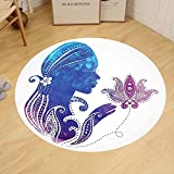 Gzhihine Custom round floor mat Teen Girls Decor Interior Of Magic Princess Bedroom Old Fashioned Ornament Pillow Lamp Mirror Bedroom Living Room Dorm Decor