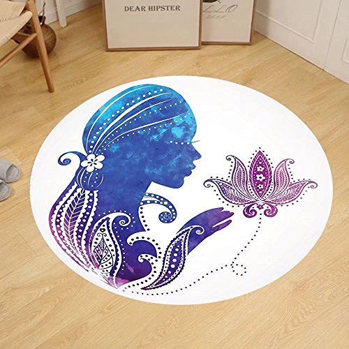 Gzhihine Custom round floor mat Teen Girls Decor Interior Of Magic Princess Bedroom Old Fashioned Ornament Pillow Lamp Mirror Bedroom Living Room Dorm Decor by Gzhihine