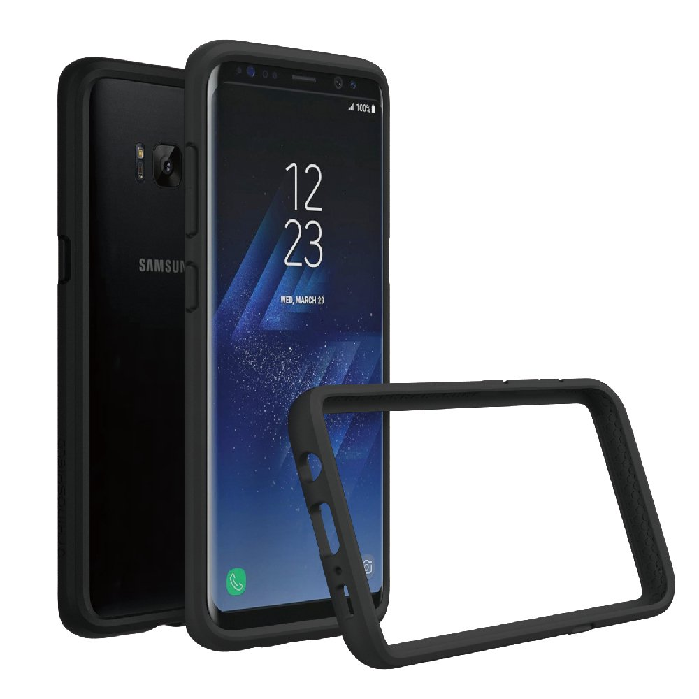 RhinoShield Bumper Case for Galaxy S8 [NOT Plus ] | [CrashGuard] | Shock Absorbent Slim Design Protective Cover - Compatible w/Wireless Charging [3.5M / 11ft Drop Protection] - Black by RhinoShield