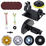 ChgImposs 17pcs/set 13mm Electric Drill Cutting Seat Stand Holder Conversion Tool Accessories with Grinding Wheel and Metal Slice for Grinding/Cutting Tile/Metal Polishing