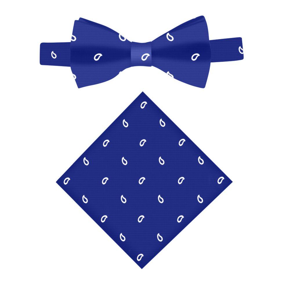 852662bd3b50 Amazon.com: Navy Tear Drop Bow Tie & Pocket Square Set | Gift for Him |  Groomsmen Bow Ties: Clothing