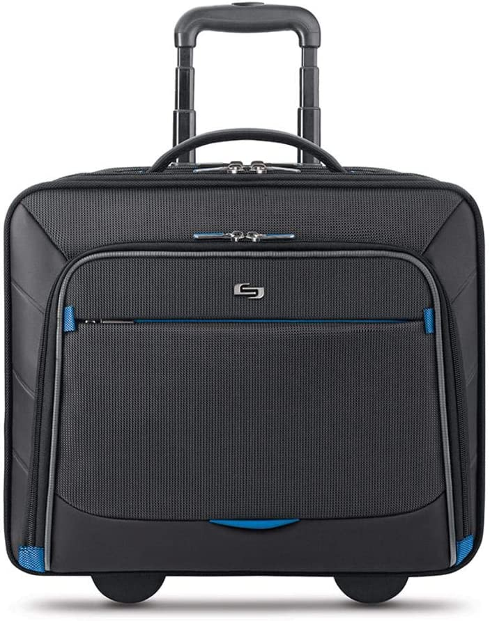Solo New York Active Rolling Overnight Laptop Bag. Business Travel Rolling Overnighter Case for Women and Men. Fits up to 16 inch laptop – Black