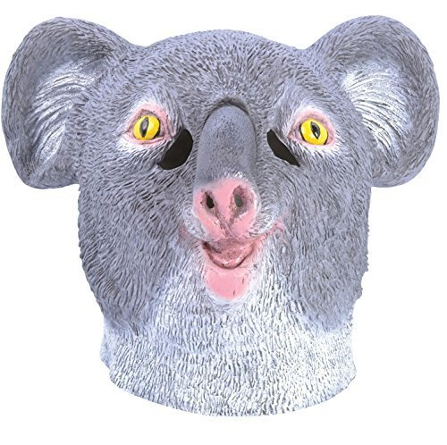 Adult Ladies Mens Grey Koala Bear Rubber Full Face Mask Australian Animal Halloween Fancy Dress Costume Outfit Accessory (Koala) ()