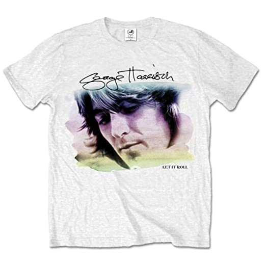 George Harrison Water Colour Portrait - Camiseta Manga Corta Hombre