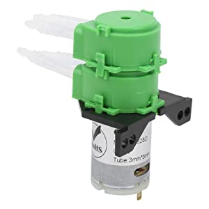 Peristaltic Pump Dosing Pump High Efficiency Food-Grade Silicone Durable Liquid Water Pump for Various Environments(DC12V)