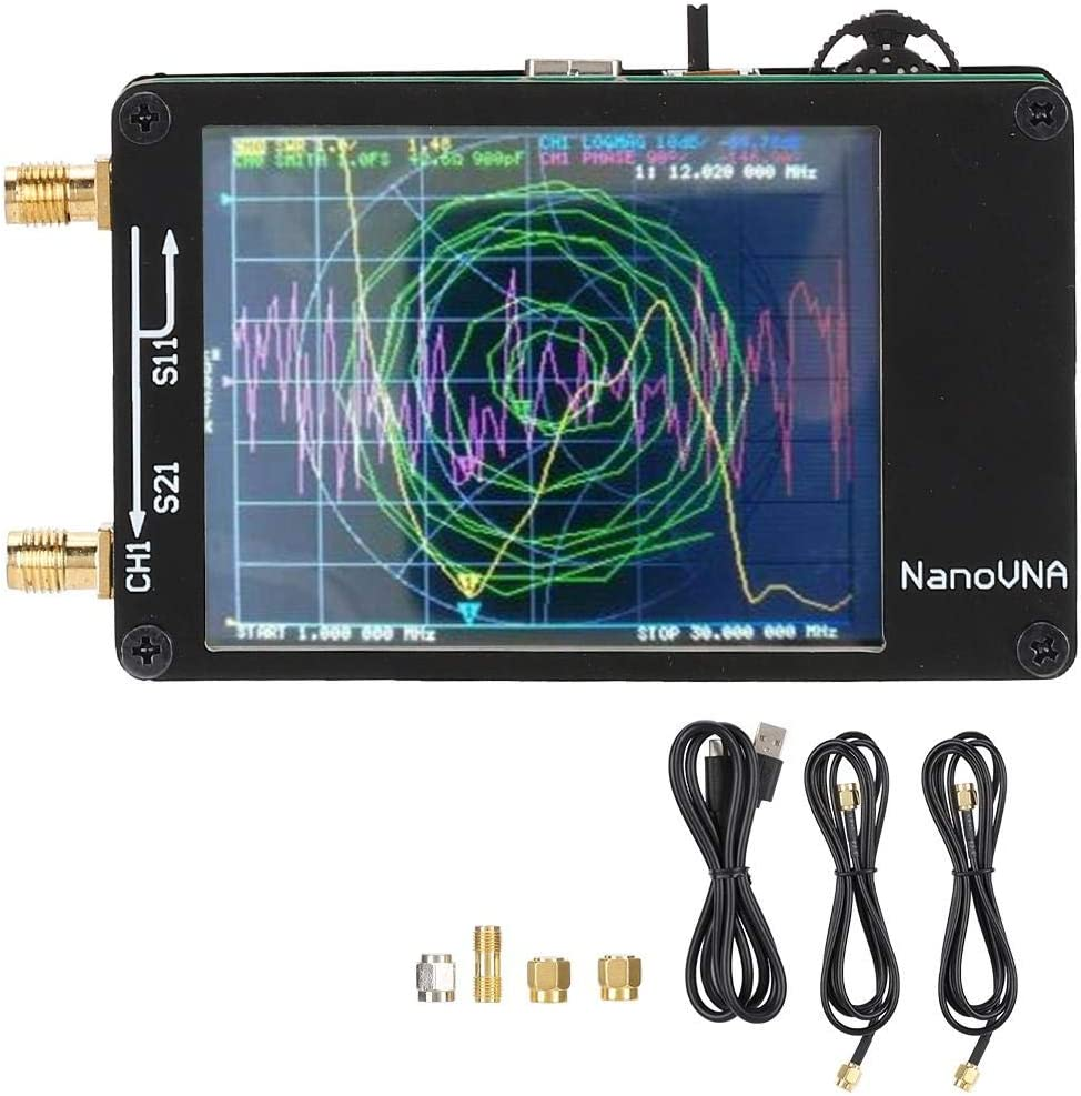 50KHz-900MHz VNA Durable for NanoVNA Software Measurement Accuracy VNA Kit 70Db Vector Network Analyzer