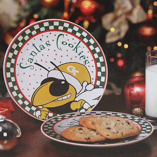 (Memory Company NCAA Georgia Institute of Technology Santa Ceramic Cookie Plate, One Size, Multicolor)