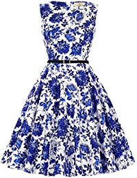 Women's Retro 50s Summer Swing Party Multi Patterns Dresses