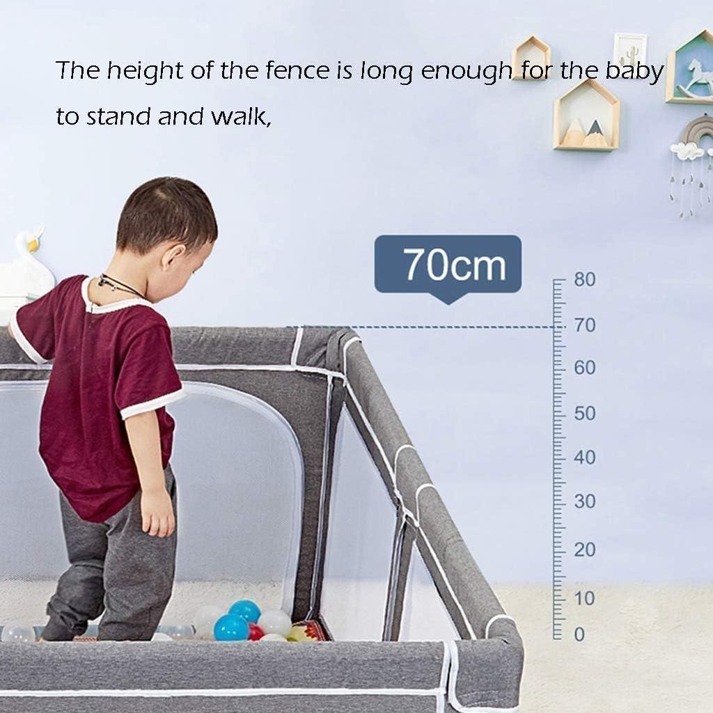 f/ür den Innen- und Au/ßenbereich gro/ßes Aktivit/ätszentrum mit atmungsaktivem Netz und Aufbewahrungstasche Hadwin Baby Laufstall Baby Spielplatz sicheres Spielzeug f/ür 6-24 Monate blau