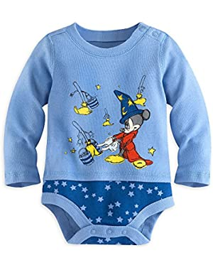 Sorcerer Mickey Mouse Cuddly Bodysuit for Baby Blue