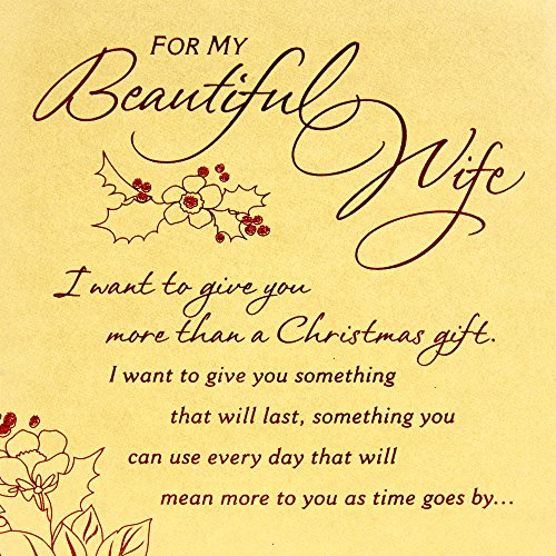 Hallmark Mahogany Christmas Greeting Card for Wife (I Want to Give You) Photo #6