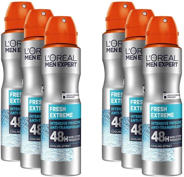 LOréal Men Expert Fresh Extreme - Desodorante en espray con 48 horas de protección en seco (pack de 150 mililitros): Amazon.es: Belleza