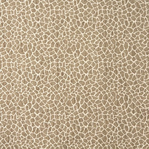 E192 Beige Giraffe Pattern Textured Woven Chenille Contemporary Upholstery Fabric By The ()