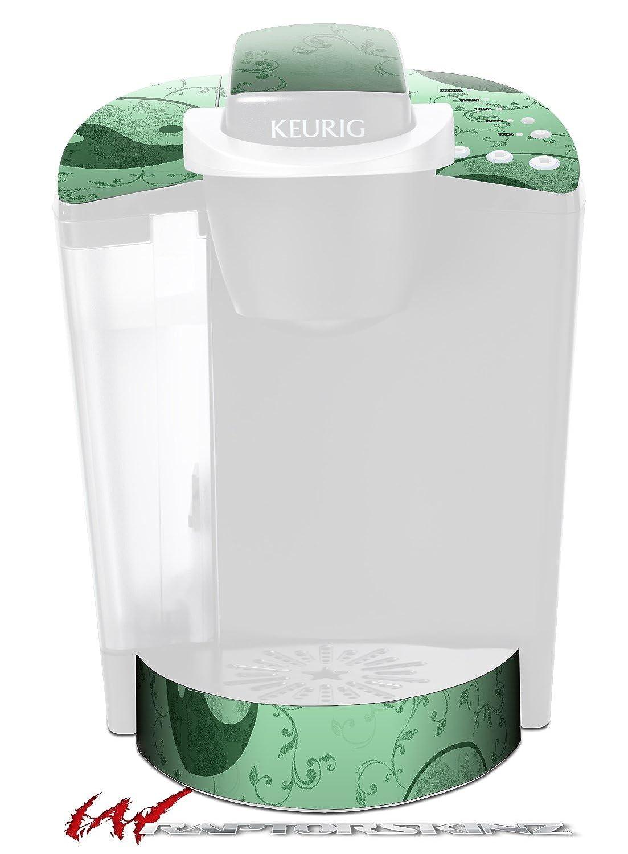 女性らしい陰陽グリーン – デカールスタイルビニールスキンFits Keurig k40 Eliteコーヒーメーカー( Keurig Not Included )   B017AKGK74