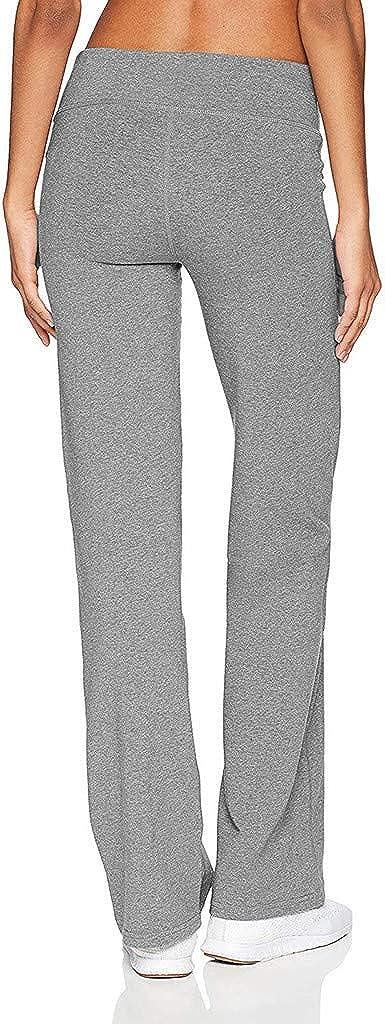 HULKY Donna Yoga Wide Leg Sport Pantaloni Aggiornamento Casual Solido High Waist Yoga Pantaloni