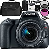 Canon EOS Rebel SL2 DSLR Camera with EF-S 18-55mm f/4-5.6 IS STM Lens 11 Accessory Bundle – Includes 32GB SD Memory Card + 2x Replacement Batteries + MORE - International Version (No Warranty)