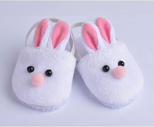 "White Bunny Slippers Rabbit Shoes Made For 18/"" Dolls Gifts Clothes Y0F1"