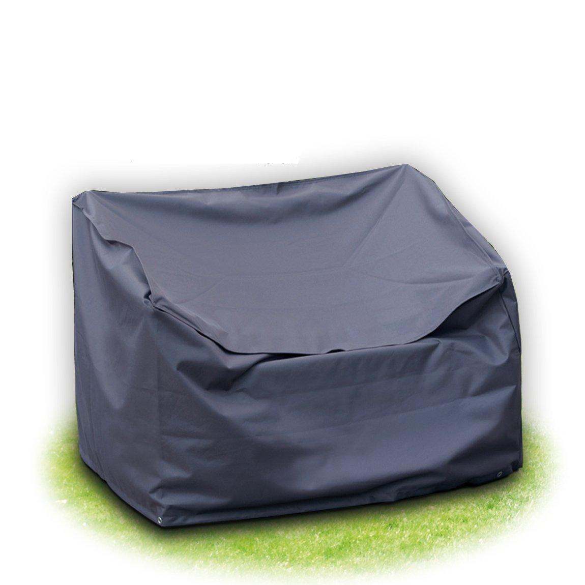Schutzhülle für Gartenbank 120x78x80 cm 2-sitzer Grau aus Polyester Oxford 420D Gartenpirat