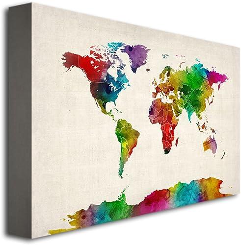 Watercolor World Map II