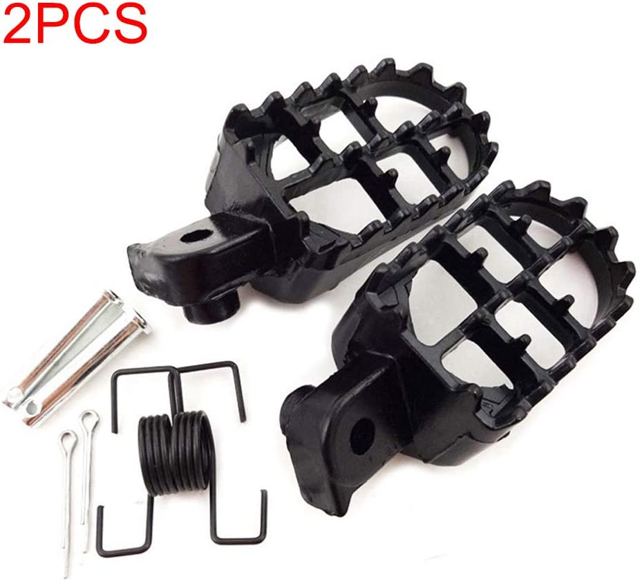 Sdkmah9 Foot Pegs 2pcs Pads Pedals Footrests Motorcycle Sportster Irony Aluminium Wide Motocross