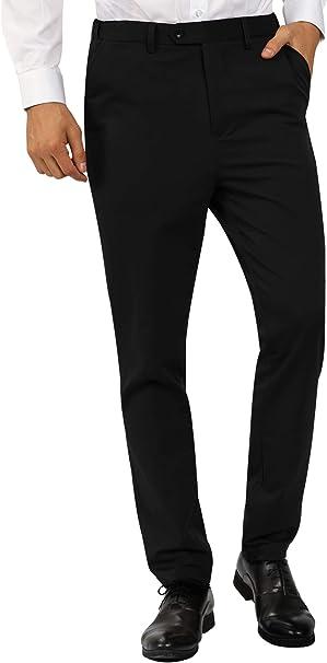 Amazon.com: MAGE MALE pantalones de vestir ajustados sin ...