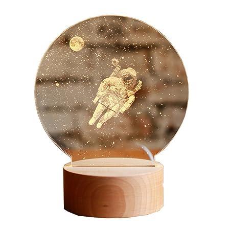 Pumpink Astronauta Creative Dimmable 3D Mesa Luz Lámpara de Mesa ...