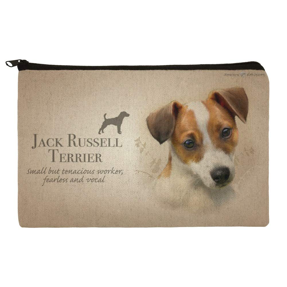 dfb5ea7fa780 Jack Russell Terrier Dog Breed Makeup Cosmetic Bag Organizer Pouch