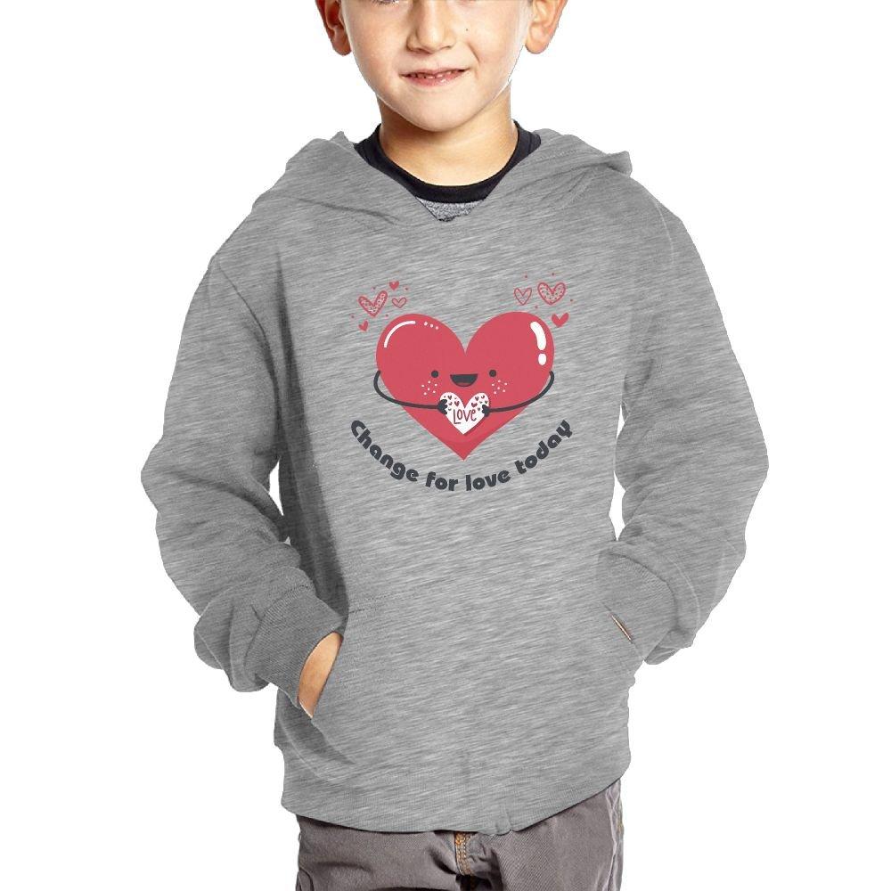Small Hoodie Change For Love Today Cartoon Kids Funny Sweatshirt Pullover Hoodie