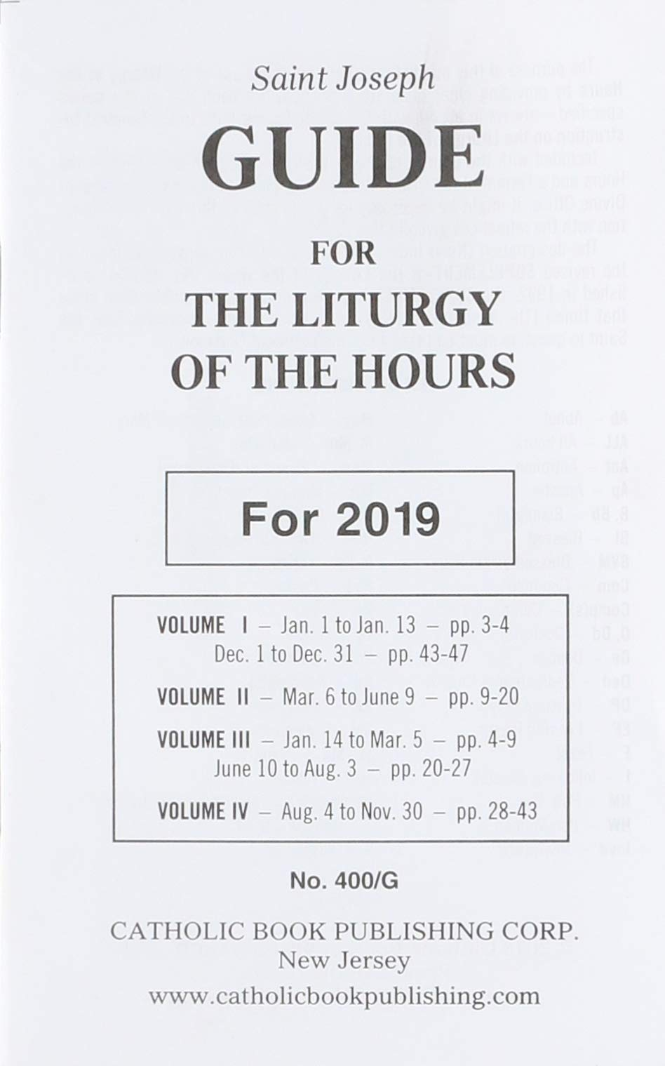 photo about Printable Liturgy of the Hours Guide referred to as Saint Joseph Expert for the Liturgy of the Hrs: For 2019