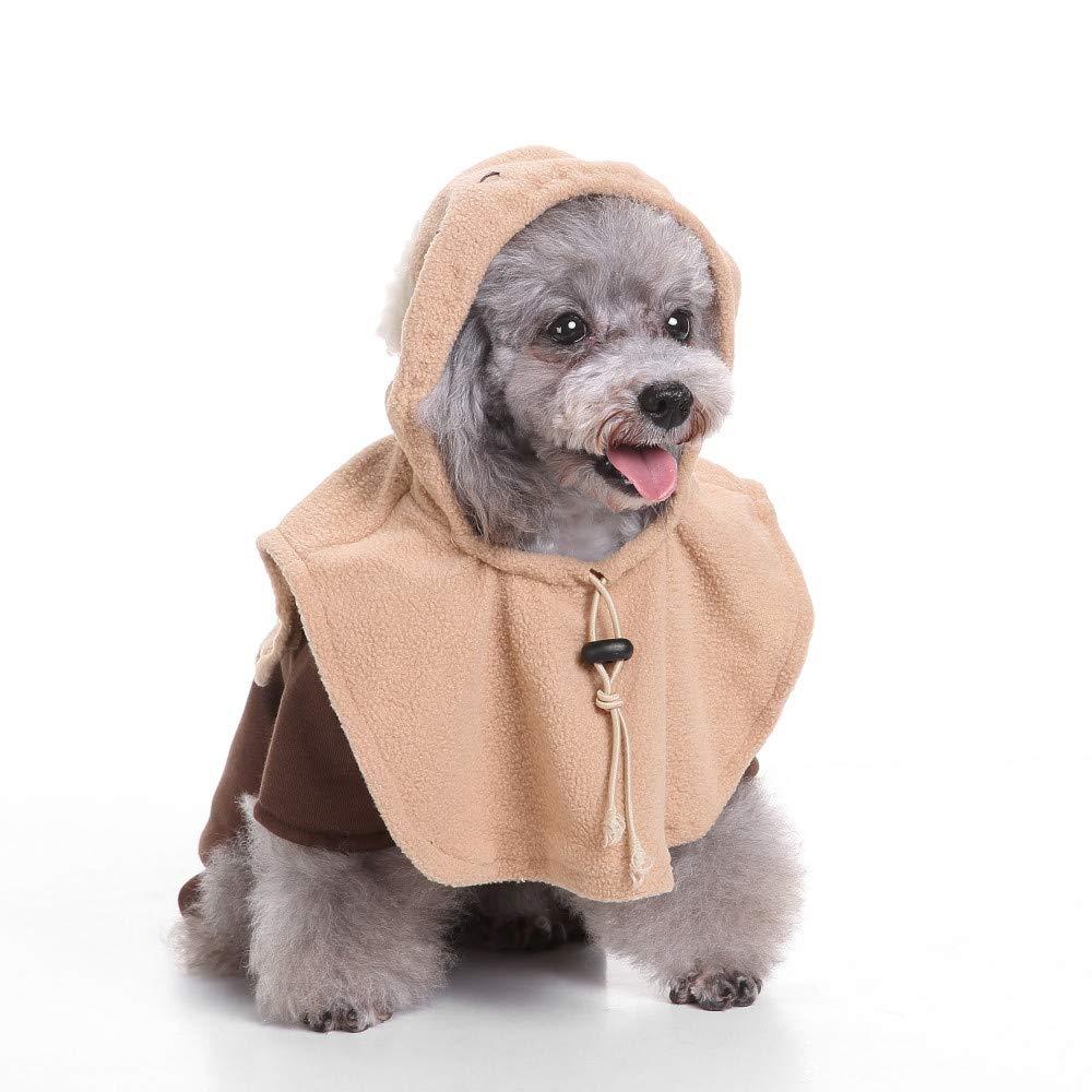 8 MBAONUAN Pet Clothes Pet Dog Clothes For Small Dogs Winter Christmas Halloween Clothes Dresses Warm Cat Coat Pumpkin Wizard Transform Funny Costume,L